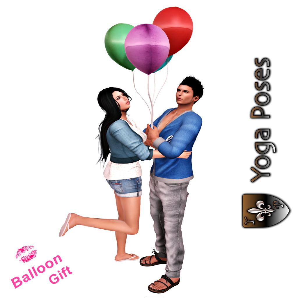 Yoga poses balloon gift third life for Housse ballon yoga