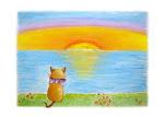 Pintura - Um Gato Feliz