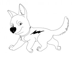 Disney Bolt Coloring Pages Printable