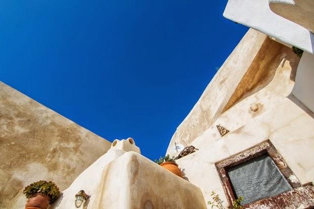 Una casa cueva tradicional en Santorini