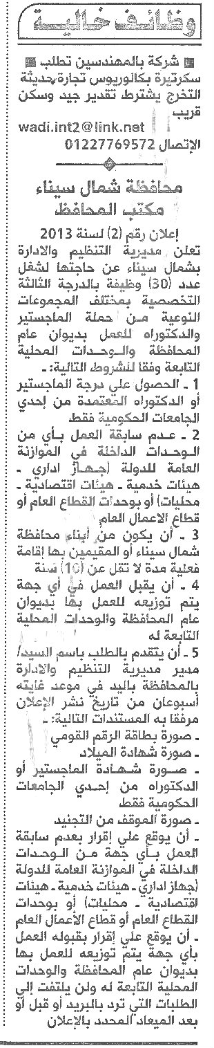 وظائف الأهرام 31/8/2013 السبت 31 أغسطس 2013