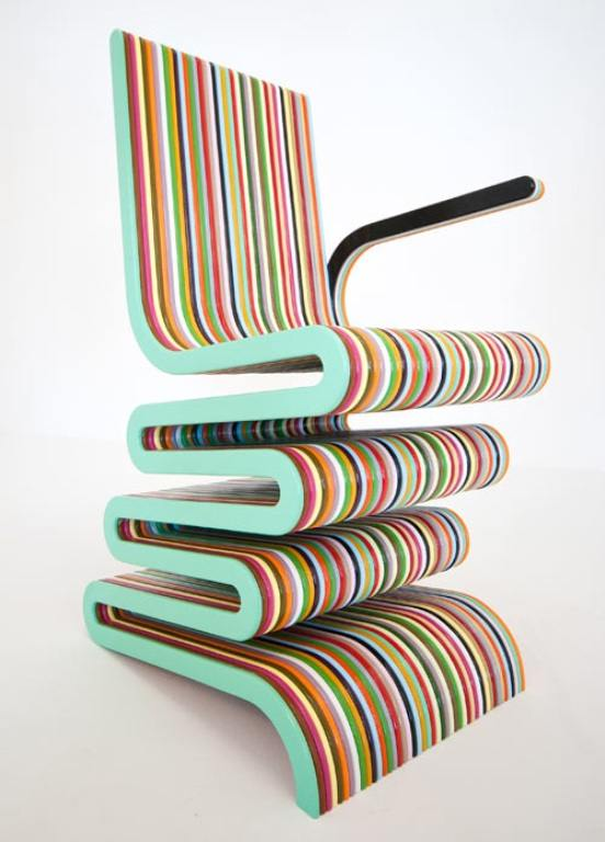 Chairs Designed By British Furniture Designer, Anthony Hartley Looks Like A  Giant Lollipop Because It Combines The Bright Colors And Stripes.