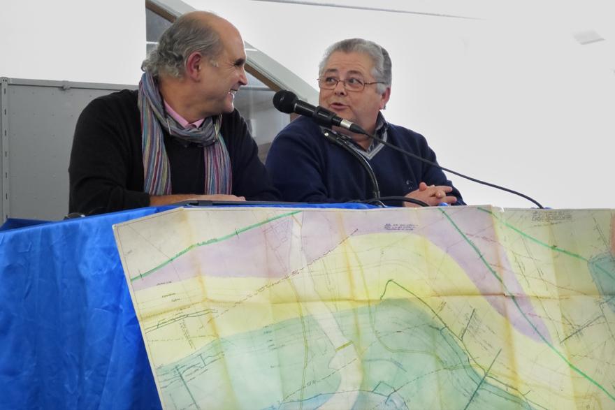 Fandos y Marino Iglesias en la Conferencia del Centenario del Pozo Sotón