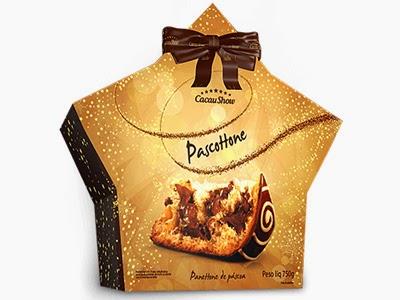 Cacau Show Páscoa chocolate Pascottone