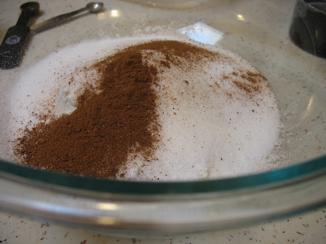 spice and sugar mixture in bowl.