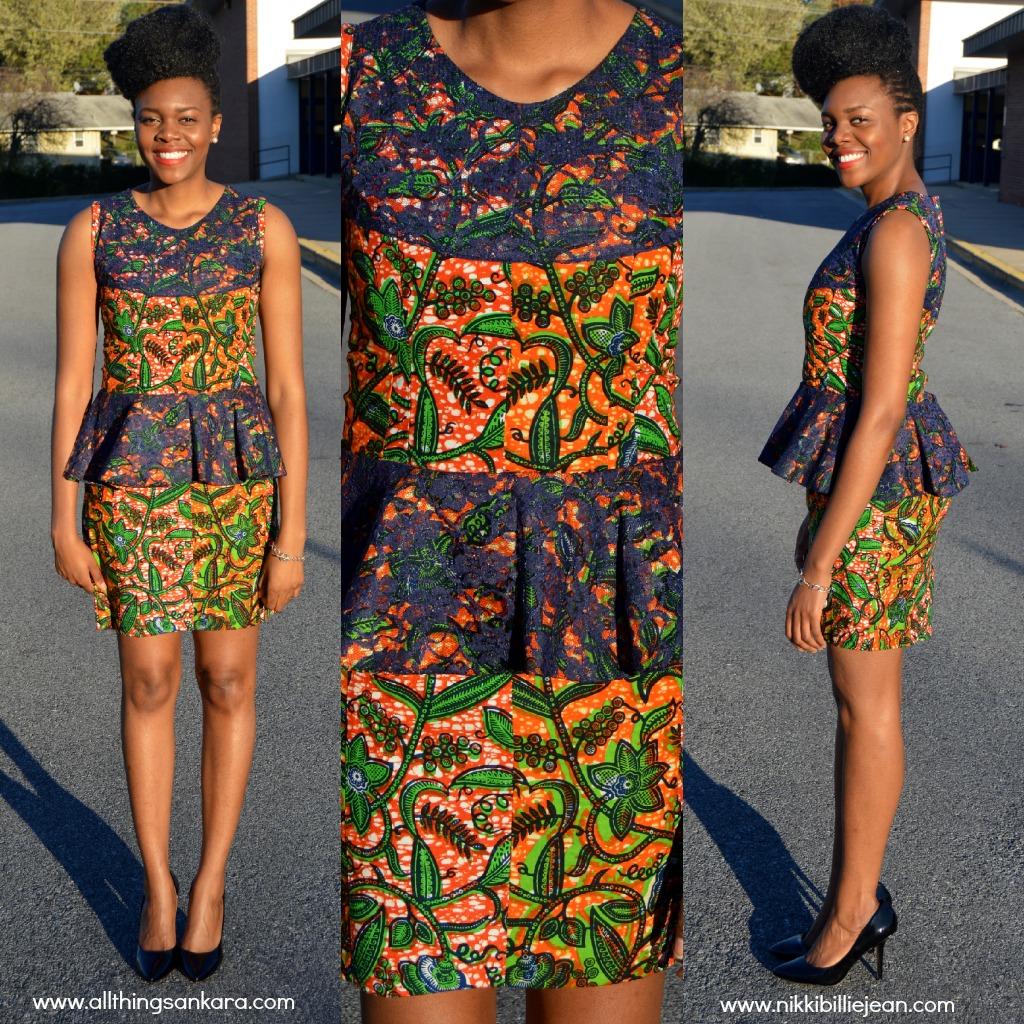 All Things Ankara Nikki Billie Jean Ankara Peplum Dress Outfit 2 All Things Ankara