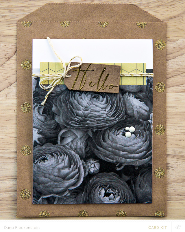 Hello Love card made with Studio Calico Park Ave. card kit by @pixnglue
