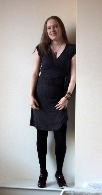 Grey Wrap Dress - Simplicity 2369