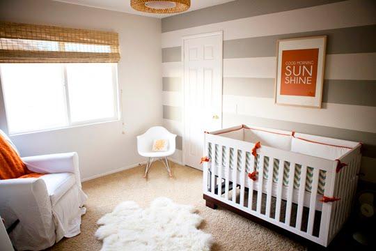 Con el bebe a cuestas: Inspiración: Habitación de bebe a rayas ...