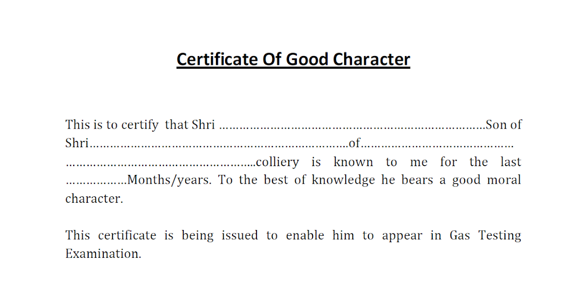 Character certificate for gas testing exam gujarats mining character certificate for gas testing exam gujarats mining engineer blog for mining engineers mining students yelopaper Images