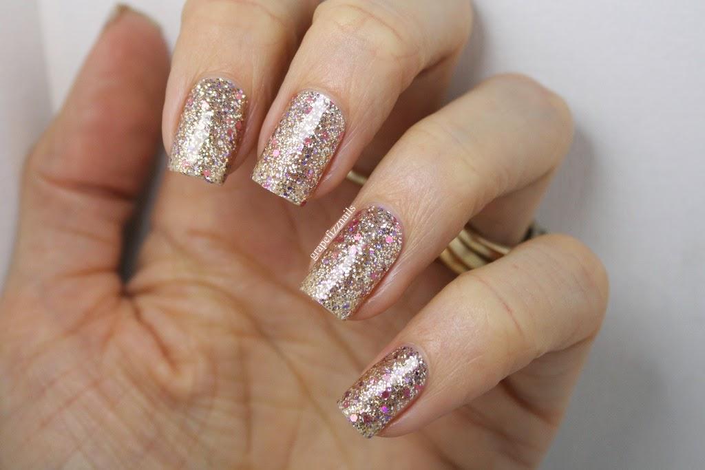 Grape Fizz Nails: Incoco Nail Polish Applique\'s, Twinkling Lights