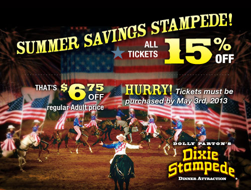 Discount coupons dixie stampede pigeon forge tennessee
