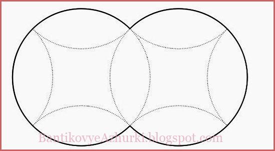 Схема подарочной четырехугольной коробочки с вогнутыми сторонами