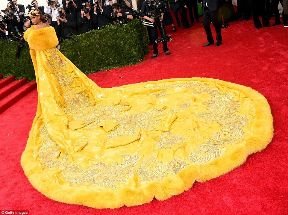 Rihanna's Yellow Gown Steals The Show At The Met Gala
