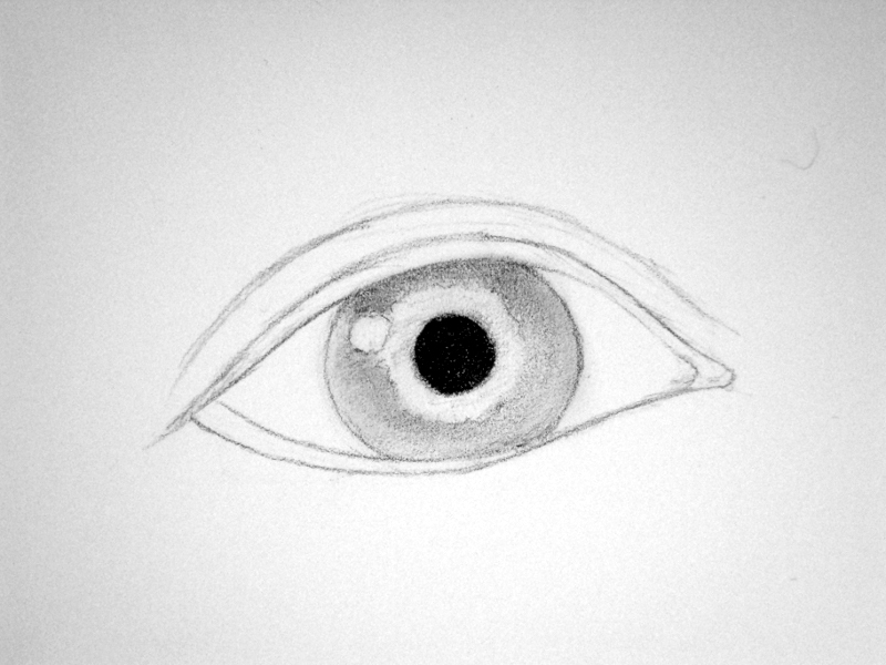 how to draw human eyes step by step