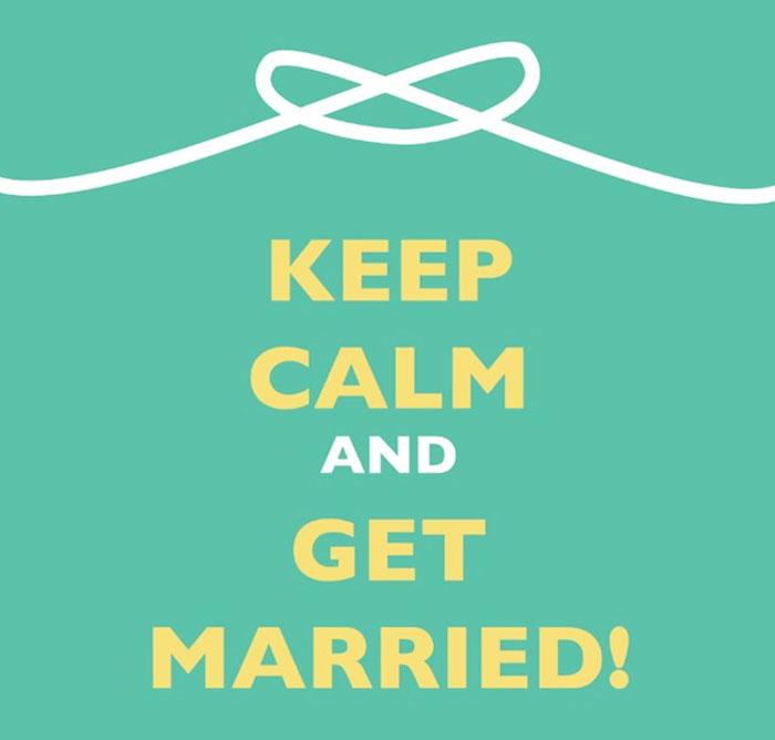 cartaz britânico para casamento