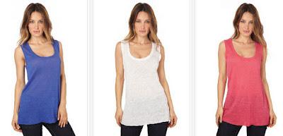 Camisetas de tirantes de lino