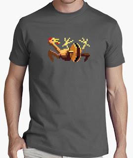 Camisetas Monkey Island pollo de goma y polea