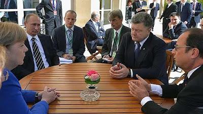 """В Париже лидеры """"нормандской четверки"""" договорились о процессе окончания войны в Донбассе"""