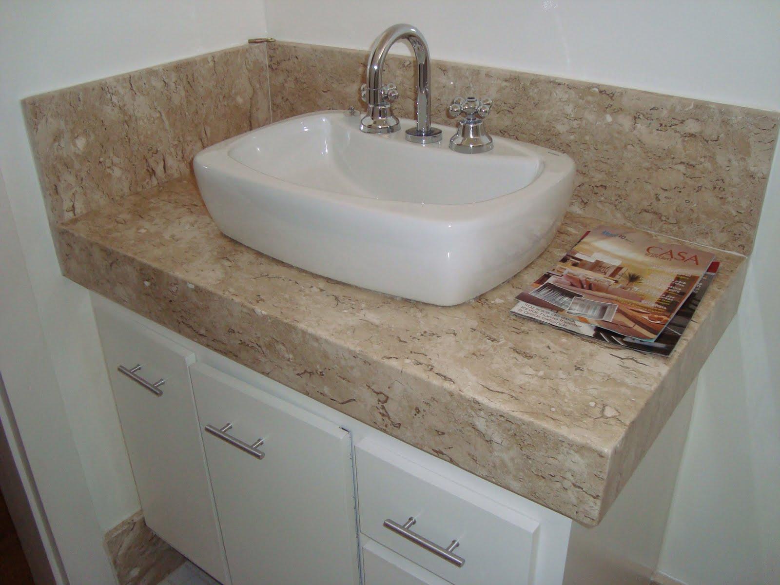 As bancadas dos meus banheiros serão em granito ou mármore ? #634C3D 1600x1200 Bancada Banheiro Duas Cubas