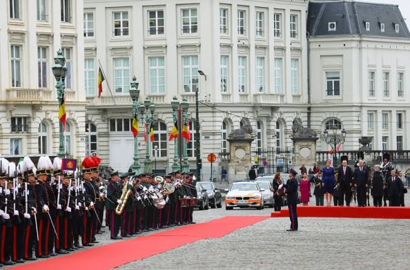Turkish President And Wife On State Visit To Belgium