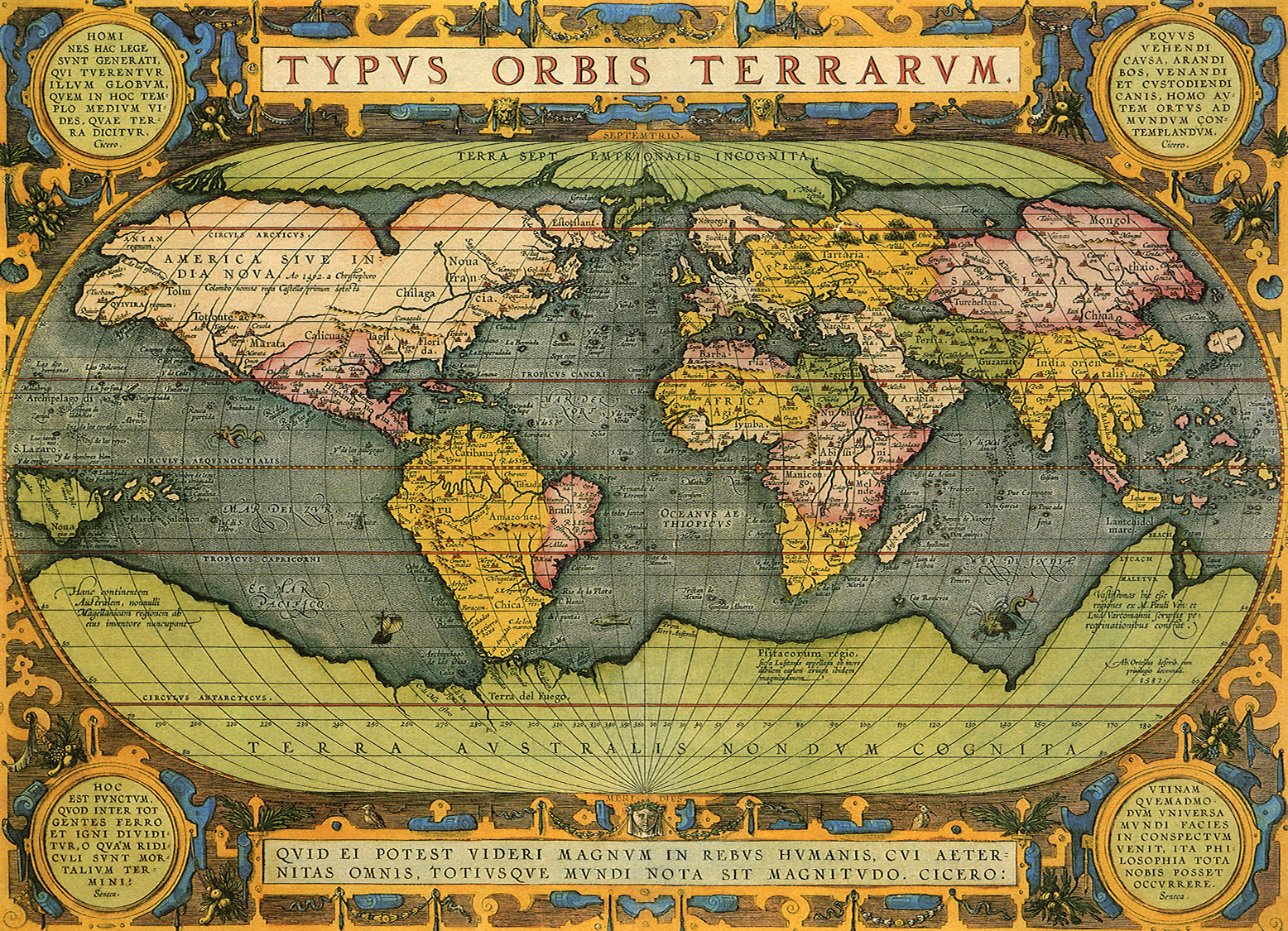 Antique World Map 1587 – The Conservative National Association of ...