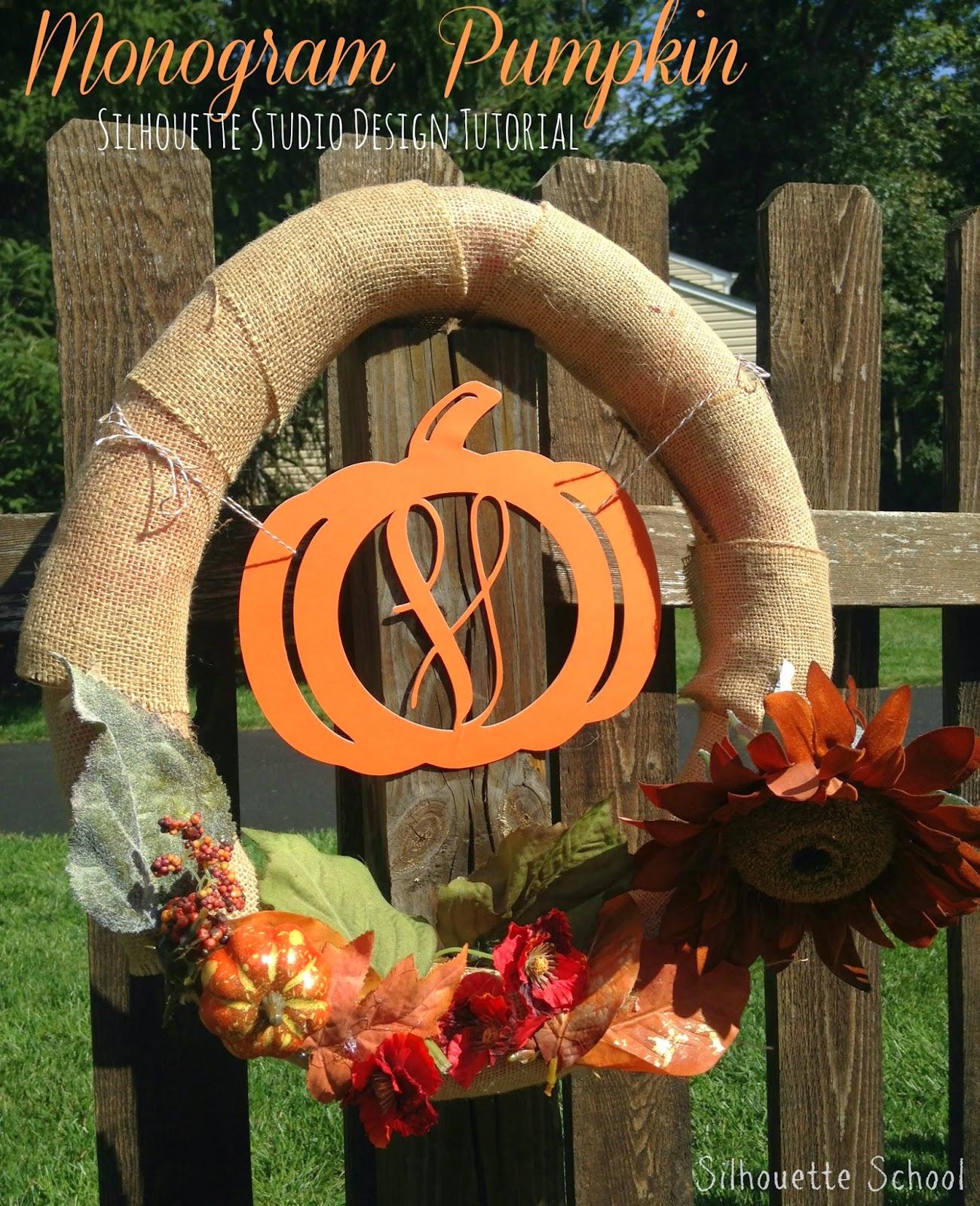 Making a Pumpkin Monogram