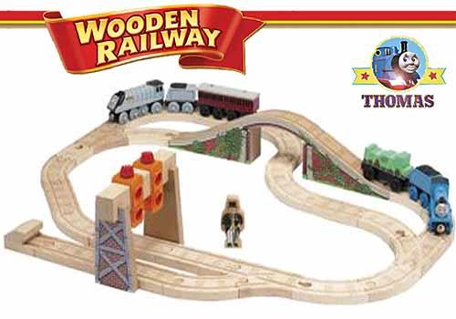 Thomas and friends wooden railway train set nz