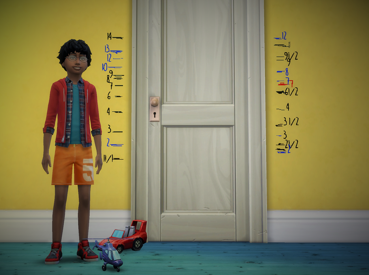 how to change a sims height in sims 4
