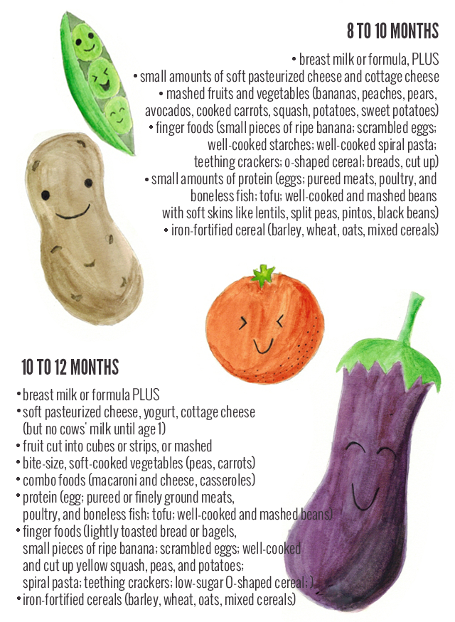 Baby Food Guide Chart from Birth to 12 Months