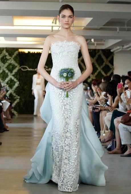 My wedding dress oscar de la renta spring 2013 green for Oscar dela renta wedding dress