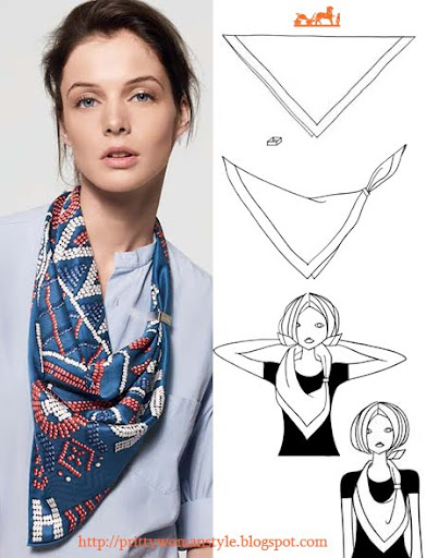 Как да носим шал - идеи от Hermes