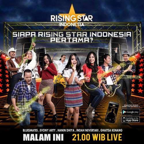 Daftar Lagu yang dinyanyikan 5 Besar Rising Star Indonesia