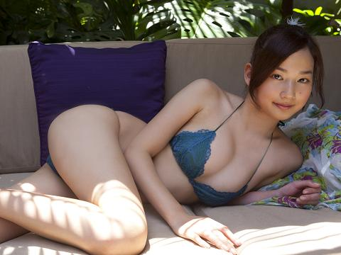 Kaho Takashima Sexy In Blue  Lingerie