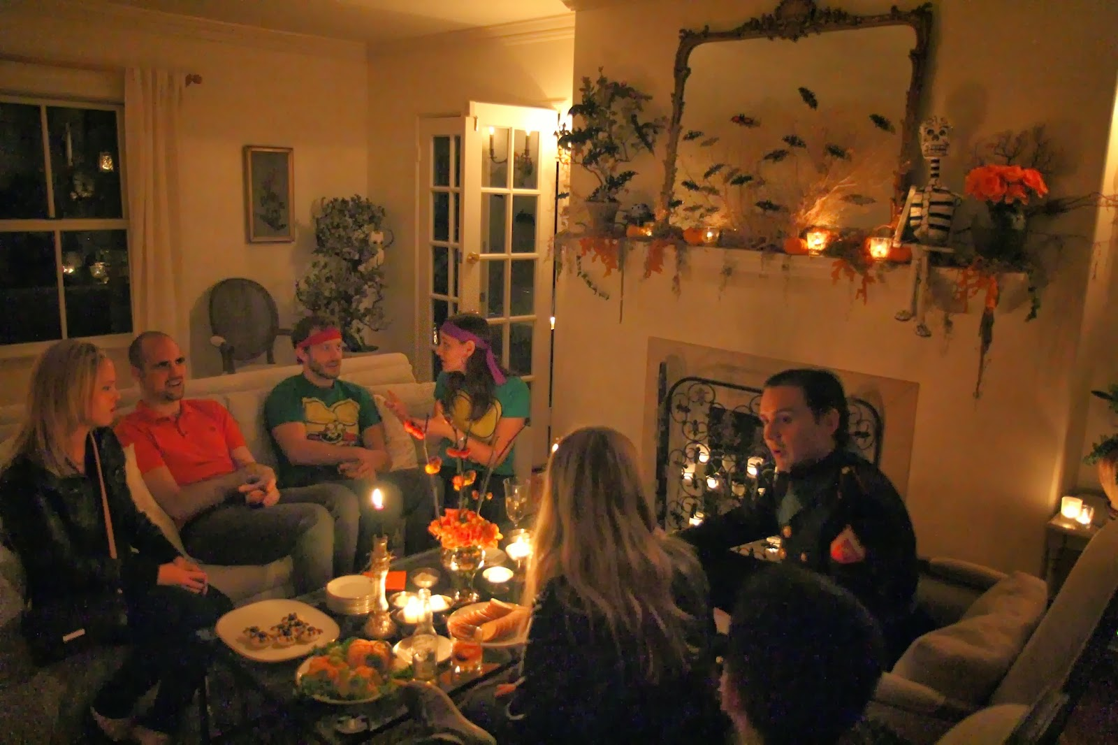 Spooky Glam Halloween Party - Living Room and Guests