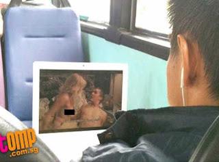 pornô no ônibus