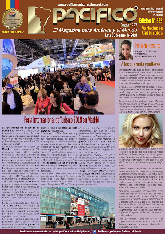 Revista Pacífico Nº 365 Variedades Culturales
