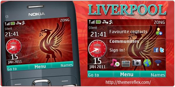 Liverpool C3 by ZB Download Tema Nokia C3 Gratis