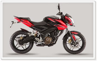 Bajaj Pulsar 200ns Black and Red Color