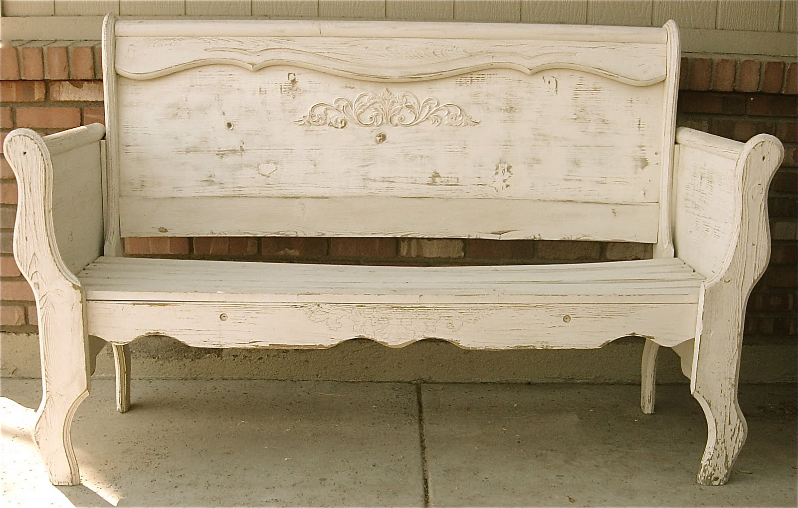 Shabby Chic Bench ~ The backyard boutique by five to nine furnishings creamy