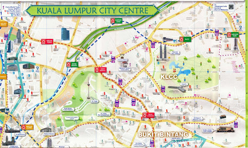 Mapa do centro de Kuala Lumpur