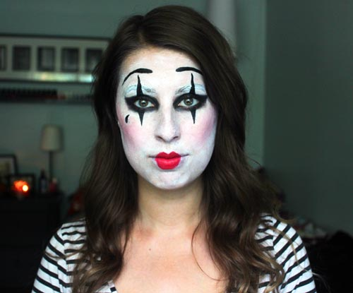 Beauty By Birdy Cheap Last Minute Halloween Costume | Mime Makeup Tutorial