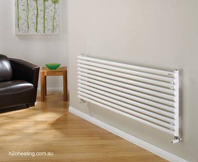 Modelo de radiador de calefacción hogareña
