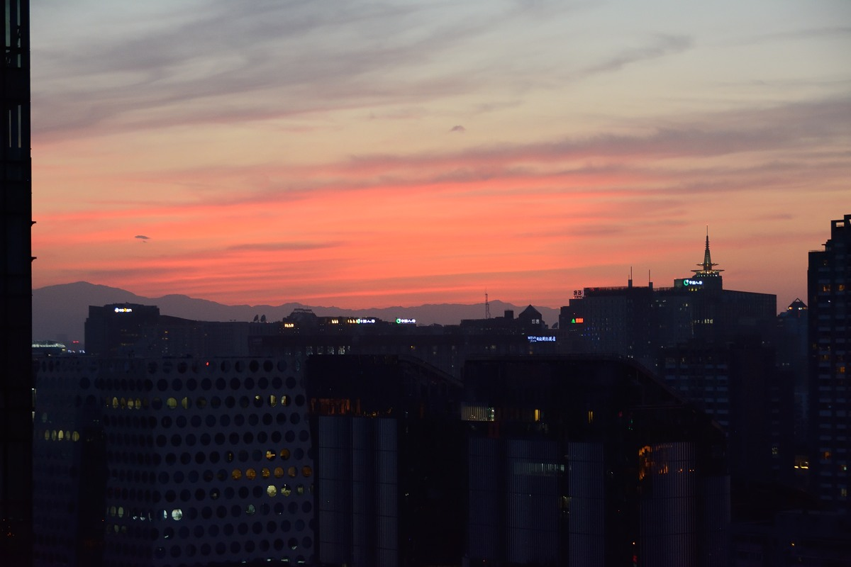 Beautiful sunset in Beijing