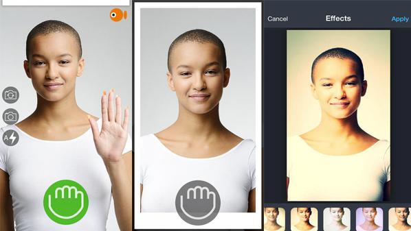 تطبيق التقاط الصور بتحريك اليد GoCam | أيفون