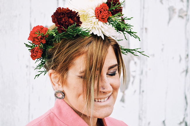 Statement Floral Crown DIY