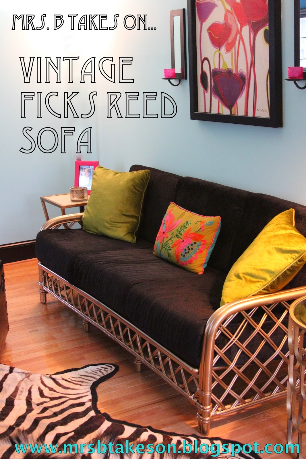 Vintage Ficks Reed Sofa