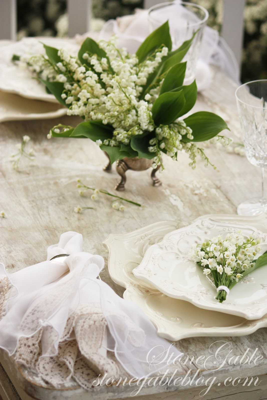 Lily of the valley tablescape stonegable lily of the valley tablescape izmirmasajfo Images