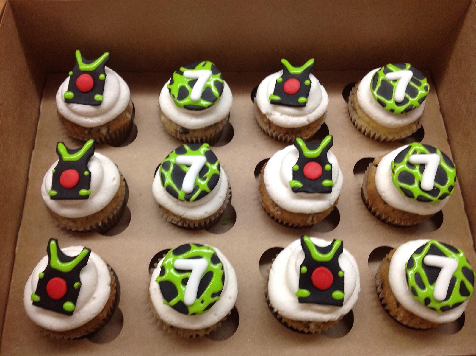 Plumeria Cake Studio Laser Tag Cupcakes
