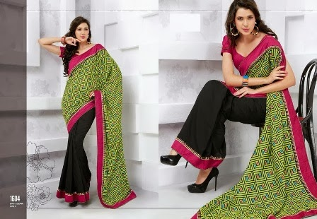 New Fashion of Silk Sarees Blouse